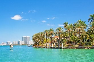 Der Strand von Miami Beach in Florida