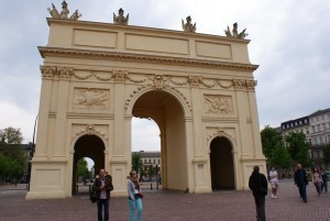 Brandenburger Tor am Luisenplatz in Potsdam