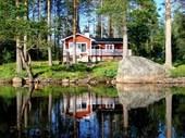 NISSÅNGEN SEE-Seeufer Seeblick Boot Sauna Privater Badestran