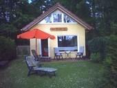 Haus Jasmin am Pälitzsee mit Steg, Boot, Fahrräder u. Kamin