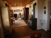 50m² Ferienwohnung im Landhausstil mit Kaminofen.