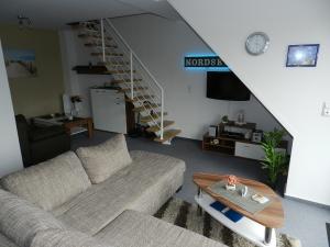 3 Sterne Ferienwohnung Wattenläufer 55 m² auf 2 Ebenen.