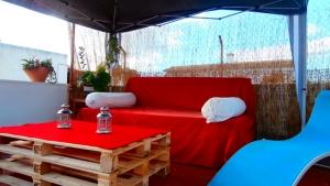 Strandnahe Casita für max. 4 Personen mit Garten und Dacht.